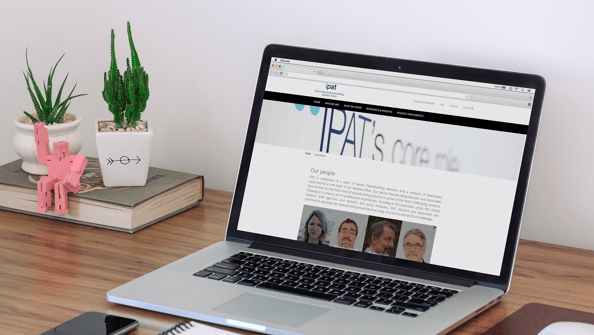 Ipat, conception et design du site